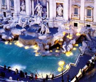 Протест наречених перед відомим римським фонтаном
