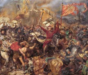 У Скерневицях художник створює копію «Грюнвальдської битви»
