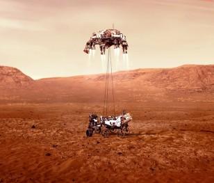 Марсохід Perseverance успішно досяг поверхні Марса